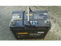 Car battery/leisure battery
