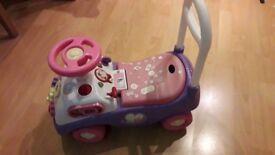 Disney Princess lightweight pink and purple ride on/push along walker