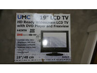 "19"" LCD TV WITH DVD PLAYER AND FREEVIEW"