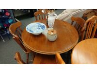 Round oval dining table with 4 chairs shabby chic upfurb
