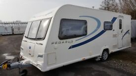 Bailey Pegasus II Milan, 4 berth, 2012, with motor mover