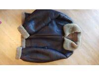 Sheepskin Leather Jacket Pilot Jacket L