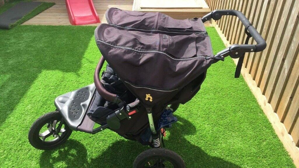 Out and about double pushchair