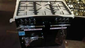 BELLING Kensington 90DFT 90 cm Dual Fuel Range Cooker - Black