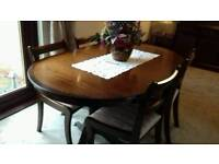 SOLD ***Table and 4 chairs
