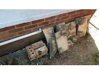 Rubble / hard-core/ broken paving slabs