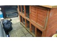 Used rabbit hutch with run and accessories