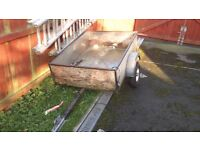 Trailer with electrics and spare wheel