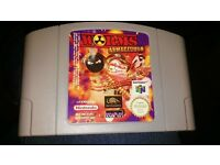 Worms Armageddon - Nintendo 64 cartridge game