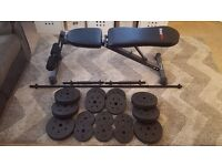 Weights and BodyMax Bench