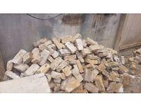 Reclaimed London stock bricks