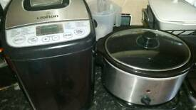 Bread maker and slow cooker
