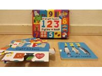 Children's 123 Jig Saw and Book
