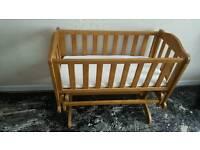 Crib (swinging)