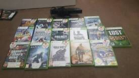16 Xbox 360 games and kinect