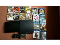 2x Playstation 3 (PS3 Slim & Super Slim) 9 games (GTA V) + 7 Blurays (Back to Future Trilogy)