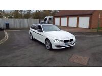 63 REG BMW 330D AUTO ESTATE F1-PADDLE WHITE M-SPORT 1-OWNER FSH MOT-17 OUTSTANDING FREE-DELIVEREY