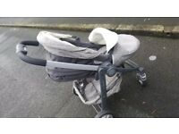 Graco pram and carry cot and rain cover