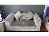 Grey crushed velvet 3 & 2