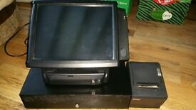 "Frontier POS System Complete 15"" Touch Screen Epos System Printer Drawer"