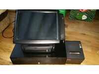 """Frontier POS System Complete 15"""" Touch Screen Epos System Printer Drawer"""