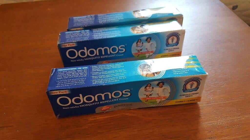 3 x DABUR ODOMOS MOSQUITO INSECT REPELLENT CREAM Vitamin E Almond Oil 100g