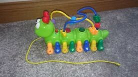 Musical Caterpillar Toy with Lights and Sounds and Pull Along String