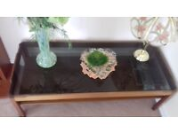 Job lot - 1960's coffee tables/1970's telephone table/modern office desk