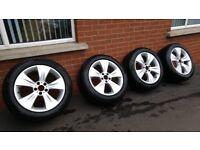 """Genuine BMW X5(E70), X6(E71) 19"""" staggered alloys fitted with Pirelli Scorpion winter runflat tyres"""