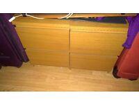 Ikea Malm Bedsides x 2