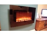 Flame effect wall mounted electric fire