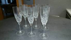 Crystal wine and glasses and champagne flutes for sale