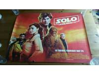"""Star Wars SOLO UK Quad poster 30""""×40"""" New."""