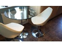 Lovely Barker and Stonehouse Retro Glass Table and Two Chairs