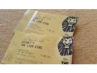 The Lion King - 2 tickets - 1 March 2017 19.30pm Royal circle