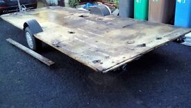 LARGE GALVANASIED TRAILER CHASSIS