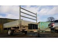 CAR TRAILER BUILDER PLANT FARM MACHINE GARDEN MOWER BIKE QUAD 8 X 5 DROP SIDE FLAT BED for sale  Aylesford, Kent
