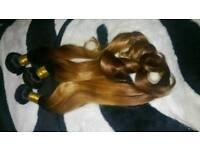 "100% Peruvian human hair extensions body wave ombre 20"" 22"" 24"" 3 bundles 300G"