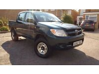 2006/56 TOYOTA HILUX 4X4 MANUAL DOUBLE CAB PICK UP, LONG MOT
