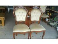 4 louis style chairs-