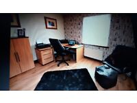 office furnitire - 2 X desks, 2 x cabinets, 1 x filing cabinet, 2 leather chairs