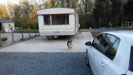 two bedroom static caravan to rent in a nice secluded area would parking spac
