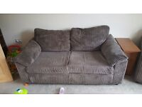 Two seater sofa and arm chair