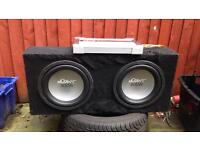 Twin subs and amp
