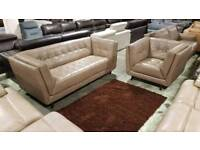 Sofology cream three and a chair, extreme comfort settee RRP£1300
