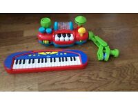 Lights and Sounds Musical Buggy Bar and Keyboard
