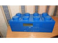 Lego CD radio/player in blue