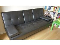 Gaming sofa, with drink holder (can be used as a sleeper sofa)
