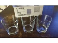 glasses. 13 boxes of 6 IKEA 'GODIS' water glasses