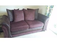 Sofa, arm chair and storage footstool, immaculate condition AS NEW!!